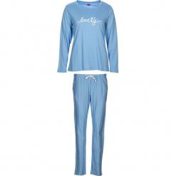 """Piżama """"Soft Dreams"""" w kolorze błękitnym. Białe piżamy damskie marki LASCANA, w koronkowe wzory, z koronki. W wyprzedaży za 104,95 zł."""