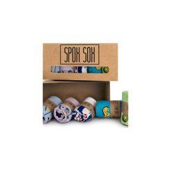 Stopki - zestaw Spox Sox. Brązowe skarpetki damskie Spox sox, z bawełny. Za 90,00 zł.