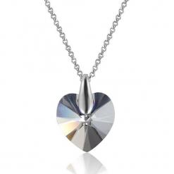 Naszyjnik z zawieszką z kryształkiem Sawrovskiego - dł. 39 cm. Szare naszyjniki damskie Biżuteria z kryształkami Swarovski. W wyprzedaży za 58,95 zł.
