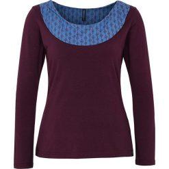 """Bluzki asymetryczne: Koszulka """"Denisa"""" w kolorze ciemnofioletowym"""