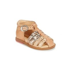 Sandały Dziecko  Babybotte  TWIX. Brązowe sandały dziewczęce marki Babybotte. Za 230,30 zł.