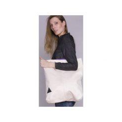 Biała torba basic. Białe torebki klasyczne damskie drops, w paski, z bawełny. Za 75,20 zł.