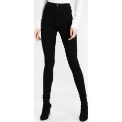 Missguided Tall VICE HIGH WAISTED Jeans Skinny Fit black. Czarne boyfriendy damskie Missguided Tall. Za 139,00 zł.
