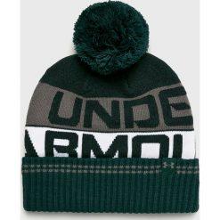 Under Armour - Czapka. Czarne czapki zimowe męskie Under Armour, z dzianiny. W wyprzedaży za 69,90 zł.