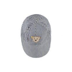 Steiff  Boys Czapka marine - niebieski - Gr.Moda (6 - 24 miesięcy ). Niebieskie czapeczki niemowlęce marki Steiff, z aplikacjami, z bawełny. Za 55,00 zł.