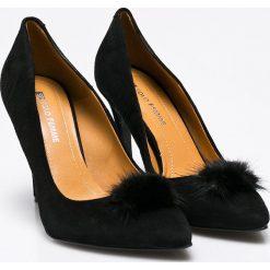 Solo Femme - Szpilki. Czarne szpilki marki Elisabetta Franchi, eleganckie, na obcasie. W wyprzedaży za 199,90 zł.