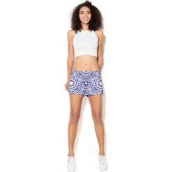 Spodnie damskie: Colour Pleasure Spodnie damskie CP-020  6 granatowo-białe r. XL-XXL