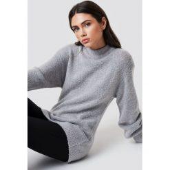 Rut&Circle Sweter z bufiastym rękawem Vega - Grey. Szare golfy damskie Rut&Circle, z dzianiny. Za 161,95 zł.