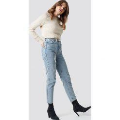 Spodnie damskie: Trendyol Jeansy mom z wysokim stanem - Blue