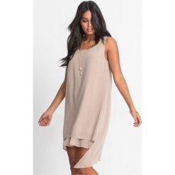 Sukienki: Sukienka szyfonowa bonprix beżowy
