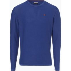 Napapijri - Sweter męski – Decil 1, niebieski. Szare swetry klasyczne męskie marki Napapijri, l, z materiału, z kapturem. Za 299,95 zł.