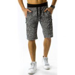 Bermudy męskie: Krótkie spodenki dresowe męskie antracytowe (sx0300)
