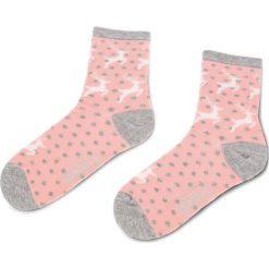 Skarpety Wysokie Damskie FREAK FEET - LREN-ROW Kolorowy Różowy. Niebieskie skarpetki damskie marki Freak Feet, w kolorowe wzory, z bawełny. Za 19,99 zł.