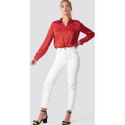 Spodnie damskie: MANGO Jeansy mom - White,Offwhite