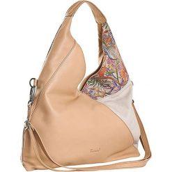 Torebki klasyczne damskie: Skórzana torebka w kolorze beżowym