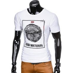 T-SHIRT MĘSKI Z NADRUKIEM S928 - BIAŁY. Czarne t-shirty męskie z nadrukiem marki Adidas, do piłki nożnej. Za 29,00 zł.