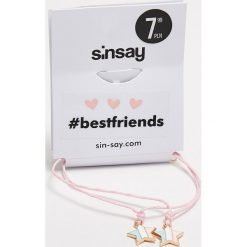 Bransoletki damskie na nogę: Bransoletki best friends dla przyjaciółek - Różowy