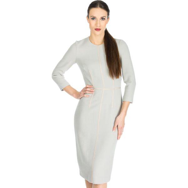166e5c8523 Sukienka Deni Cler w kolorze beżowym - Brązowe sukienki Odzież ...