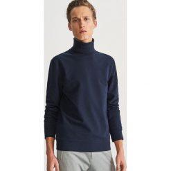Bluza z golfem - Granatowy. Niebieskie bluzy męskie rozpinane marki Reserved, l. Za 119,99 zł.