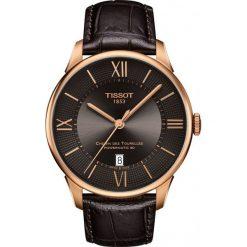 PROMOCJA ZEGAREK TISSOT T-Classic T099.407.36.448.00. Brązowe zegarki męskie TISSOT, ze stali. W wyprzedaży za 3212,00 zł.