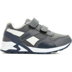 Szare Buty Sportowe Progressive. Szare buty sportowe chłopięce marki Born2be, z okrągłym noskiem, na płaskiej podeszwie, na rzepy. Za 59,99 zł.