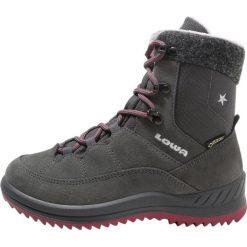 Buty sportowe chłopięce: Lowa CALCETINA GORETEX MID Buty trekkingowe anthrazit/beere