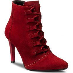 Botki OLEKSY - 483/689 Czerwony. Szare buty zimowe damskie marki Oleksy, ze skóry. W wyprzedaży za 259,00 zł.