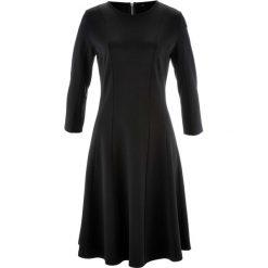 Sukienki hiszpanki: Sukienka Punto di Roma, rękawy 3/4, z kolekcji Maite Kelly bonprix czarny