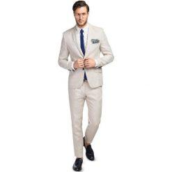 Garnitur Lniany GXES900096. Białe garnitury Giacomo Conti, ze lnu. Za 499,00 zł.