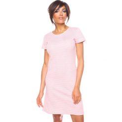 """Sukienki hiszpanki: Sukienka """"Samantha"""" w kolorze jasnoróżowym"""