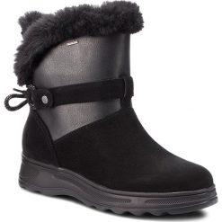 Śniegowce GEOX - D Hosmos B Abx C D84AUC 0222N C0005 Black/Dk Grey. Czarne buty zimowe damskie Geox, z materiału. W wyprzedaży za 419,00 zł.