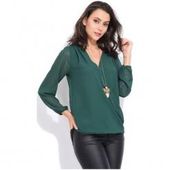 Charlotte Et Louis Bluzka Damska Dolores 42 Zielony. Zielone bluzki z odkrytymi ramionami Charlotte Et Louis, dekolt w kształcie v. Za 169,00 zł.