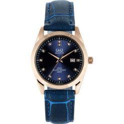 Zegarek Q&Q Damski QZ13-102 Klasyczny Cyrkonie granatowy. Niebieskie zegarki damskie Q&Q. Za 125,99 zł.
