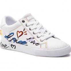 Sneakersy GUESS - FL5PXT ELE12 WHITE. Białe sneakersy damskie marki Guess, z materiału. Za 439,00 zł.