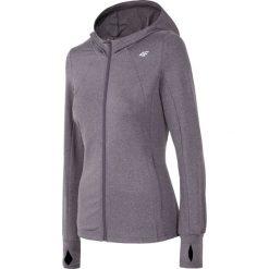 Bluzy rozpinane damskie: Bluza treningowa damska BLDF250 - ciemny szary melanż