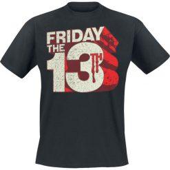 T-shirty męskie z nadrukiem: Friday The 13th Block Logo T-Shirt czarny