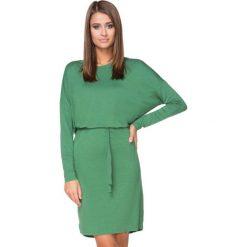 Zielona Sukienka z Wiązanym Paskiem. Zielone sukienki na komunię marki Reserved, z wiskozy. Za 139,90 zł.