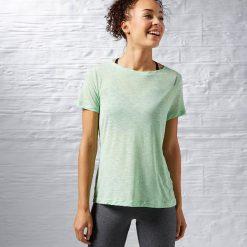 Reebok Koszulka damska Work Out Ready Slub Textured Tee zielona r. S (AJ3417). Zielone topy sportowe damskie Reebok, s. Za 63,44 zł.