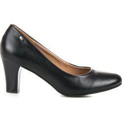 Buty ślubne damskie: CZARNE CZÓŁENKA NA SŁUPKU Vices czarne