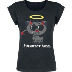 Bluzki asymetryczne: Purrrfect Angel Koszulka damska czarny
