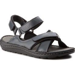 Sandały LANETTI - MSA692-1 Granatowy. Niebieskie sandały męskie skórzane Lanetti. Za 89,99 zł.