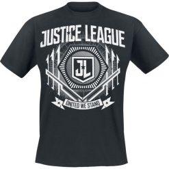 T-shirty męskie z nadrukiem: Justice League United T-Shirt czarny