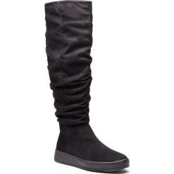 Kozaki BULLBOXER - 999501F7T BLCKTD70  Blck. Czarne buty zimowe damskie marki Bullboxer, z materiału. Za 299,00 zł.