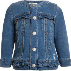 Benetton JACKET BABY Kurtka jeansowa blue denim. Niebieskie kurtki męskie jeansowe marki Benetton. Za 129,00 zł.