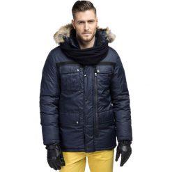 Kurtka DAMASO KUGS000097. Niebieskie kurtki męskie zimowe marki Giacomo Conti, m, z tkaniny, klasyczne. Za 699,00 zł.