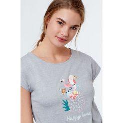 Etam - Top piżamowy Tropic. Niebieskie piżamy damskie marki Etam, l, z bawełny. W wyprzedaży za 39,90 zł.