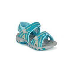 Sandały sportowe Dziecko  Kangaroos  MUSER. Czerwone buty sportowe dziewczęce marki Born2be, z materiału, z otwartym noskiem, na zamek. Za 103,20 zł.
