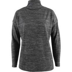 Golfy damskie: Sweter z polaru oversize bonprix antracytowy melanż