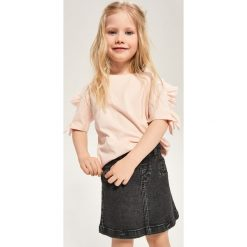 Odzież dziecięca: Jeansowa spódnica z zamkami - Szary