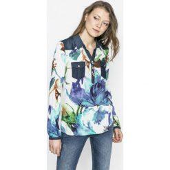 Desigual - Koszula Blus_ala de mariposa. Szare koszule damskie Desigual, m, z bawełny, casualowe, z długim rękawem. W wyprzedaży za 179,90 zł.